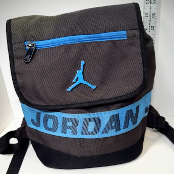 70f0a1dbf91131 Jordan Handbags - Nike Air Jordan black blue mini backpack euc